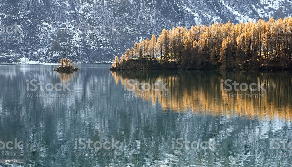 Lake of Silvaplana near St. Moritz royalty-free stock photo