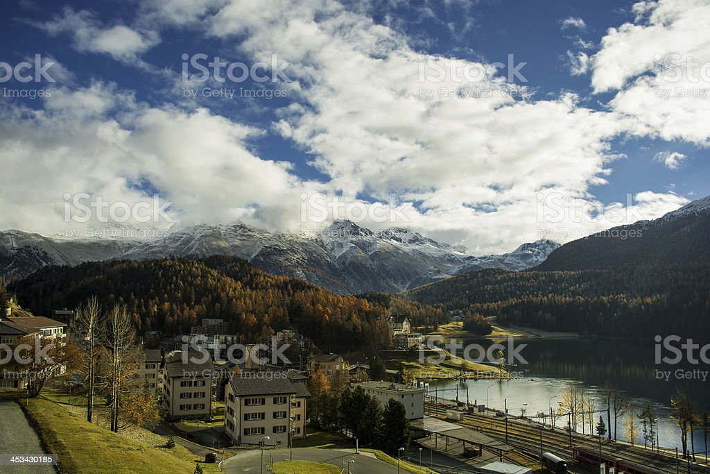 Lake of St. Moritz royalty-free stock photo