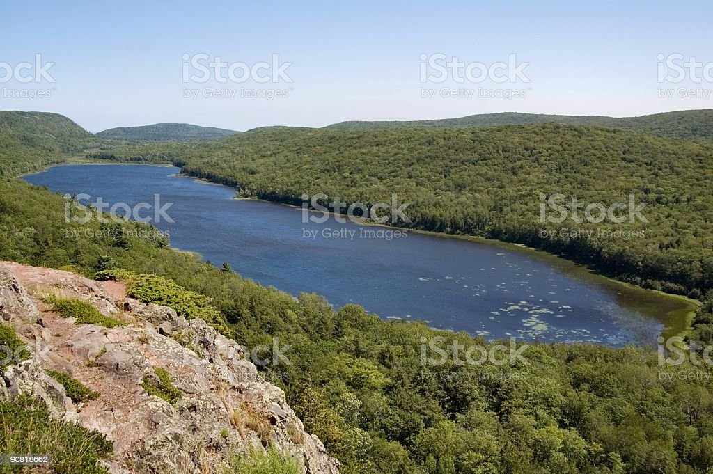 Lake of the Clouds in the Porcupine Mountains royalty-free stock photo