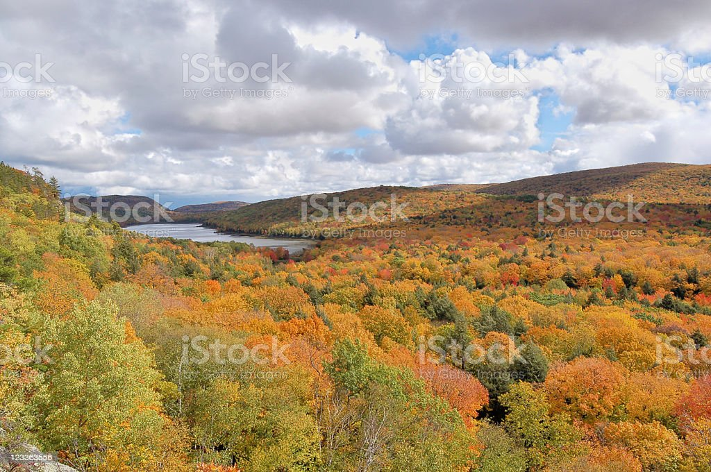 Lake Of The Clouds stock photo