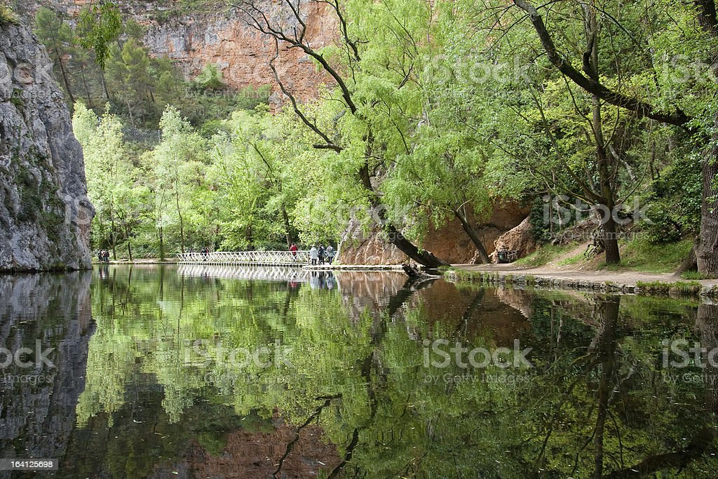 Lake of the Mirror stock photo