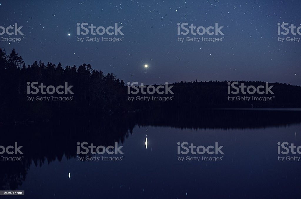 Lake of the Planets stock photo