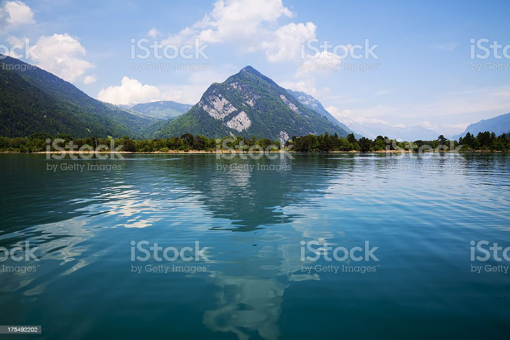 Lake of Thun stock photo