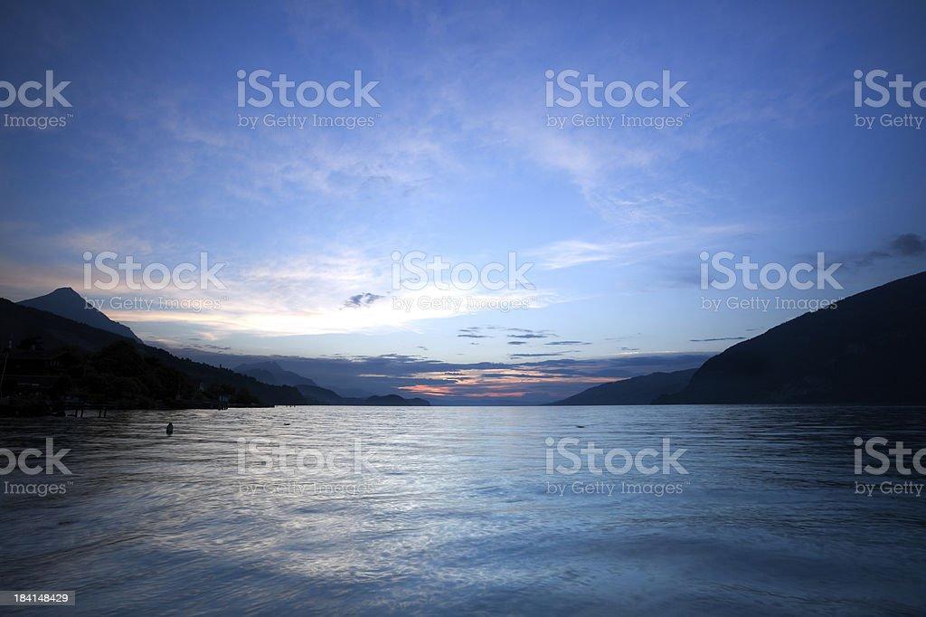 Lake of Thun - Switzerland stock photo
