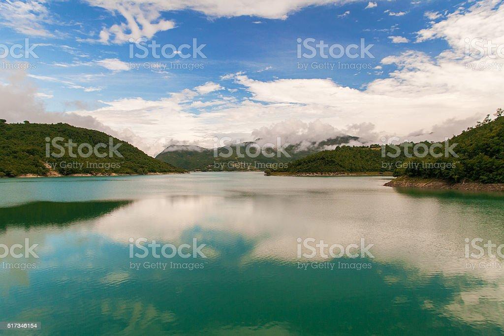 Lake of Turano, Italy stock photo