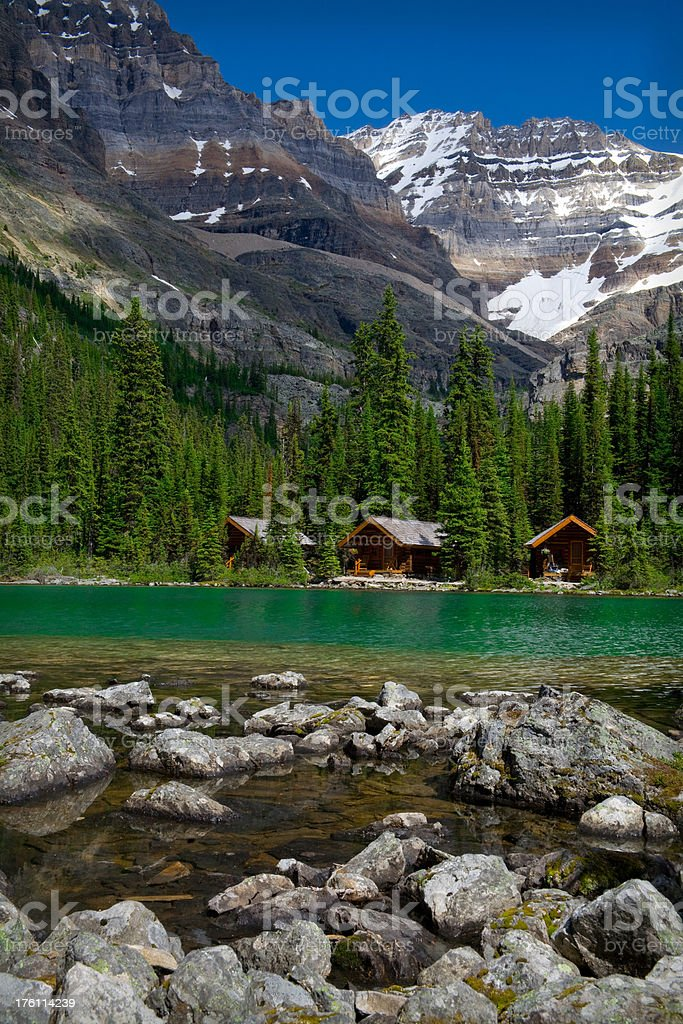 Lake O'hara Cabins royalty-free stock photo