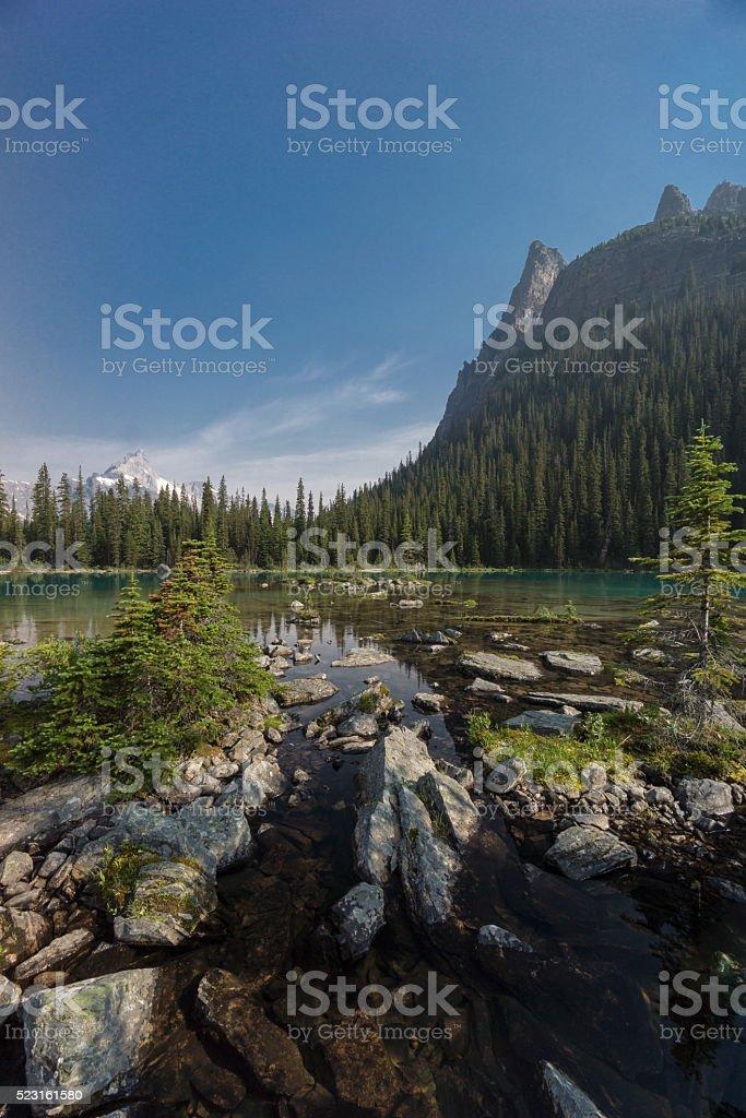 Lake O'Hara, Yoho National Park, Canadian Rockies, British Colum stock photo