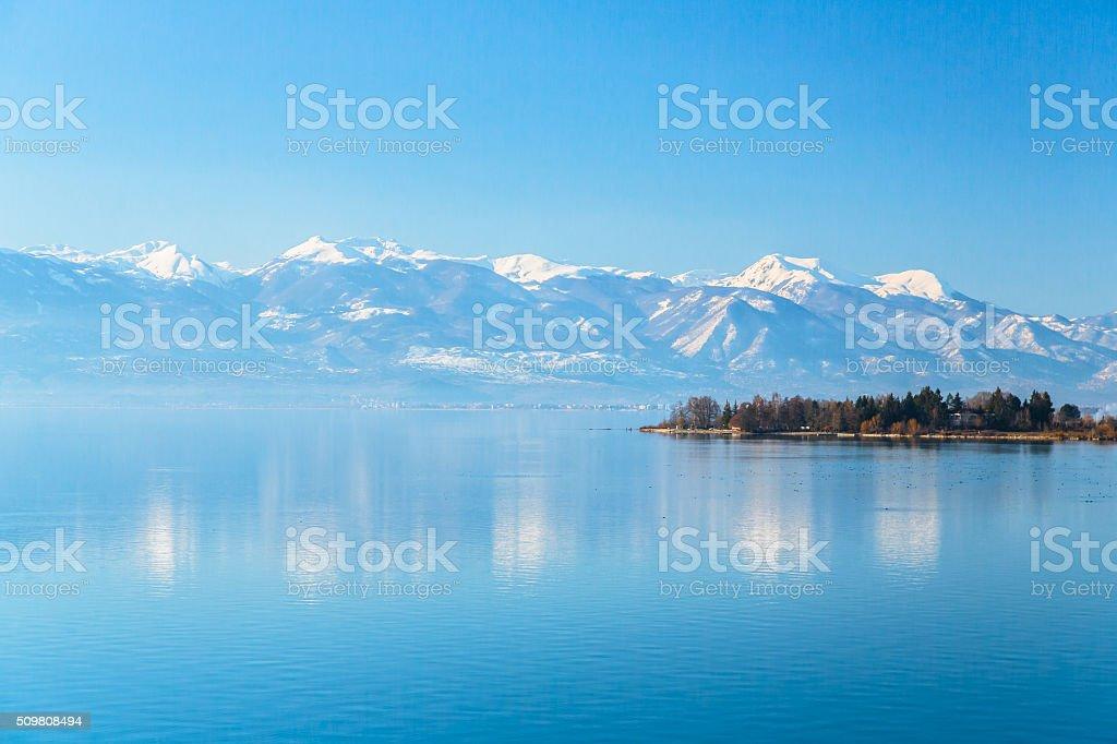 Lake Ohrid in Spring stock photo