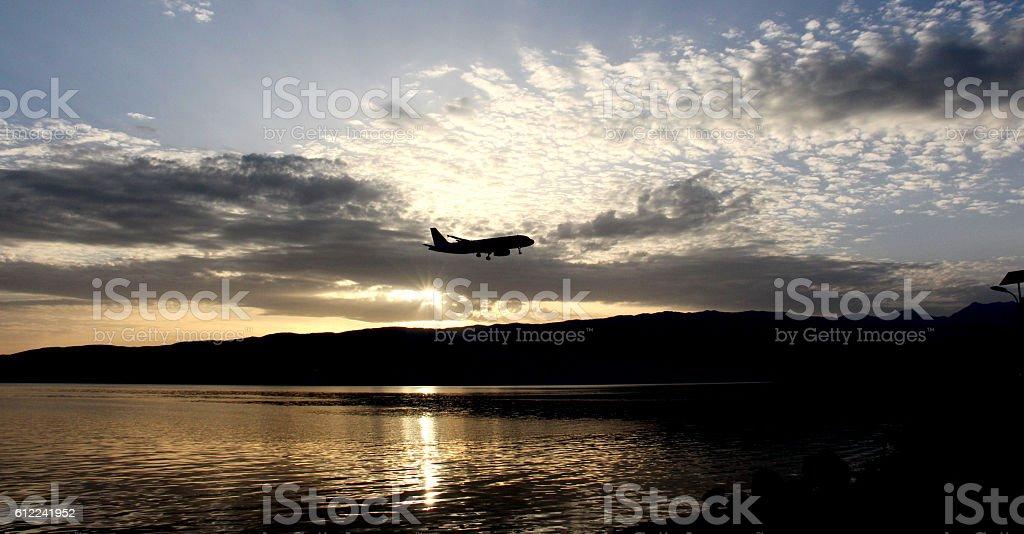 lake Ohrid, Macedonia Republic of , sunset stock photo