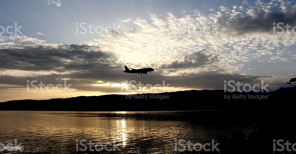 lake Ohrid, Macedonia Republic of , sunset stock photo