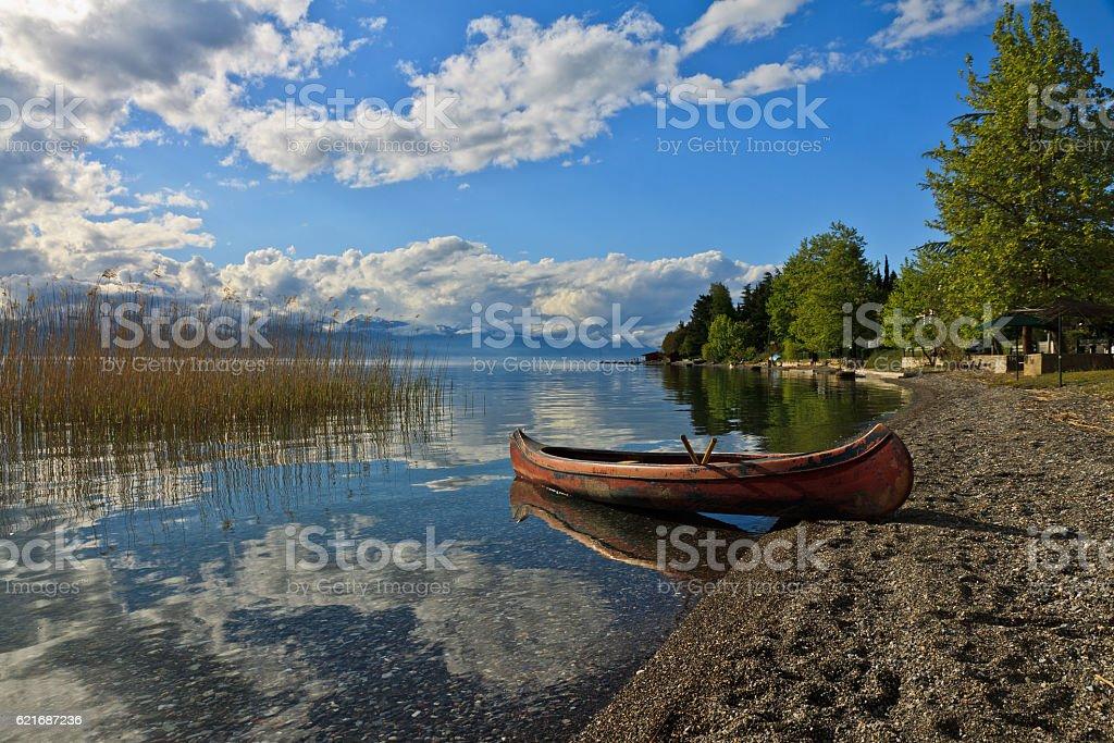 Lake Ohrid Mazedonia stock photo