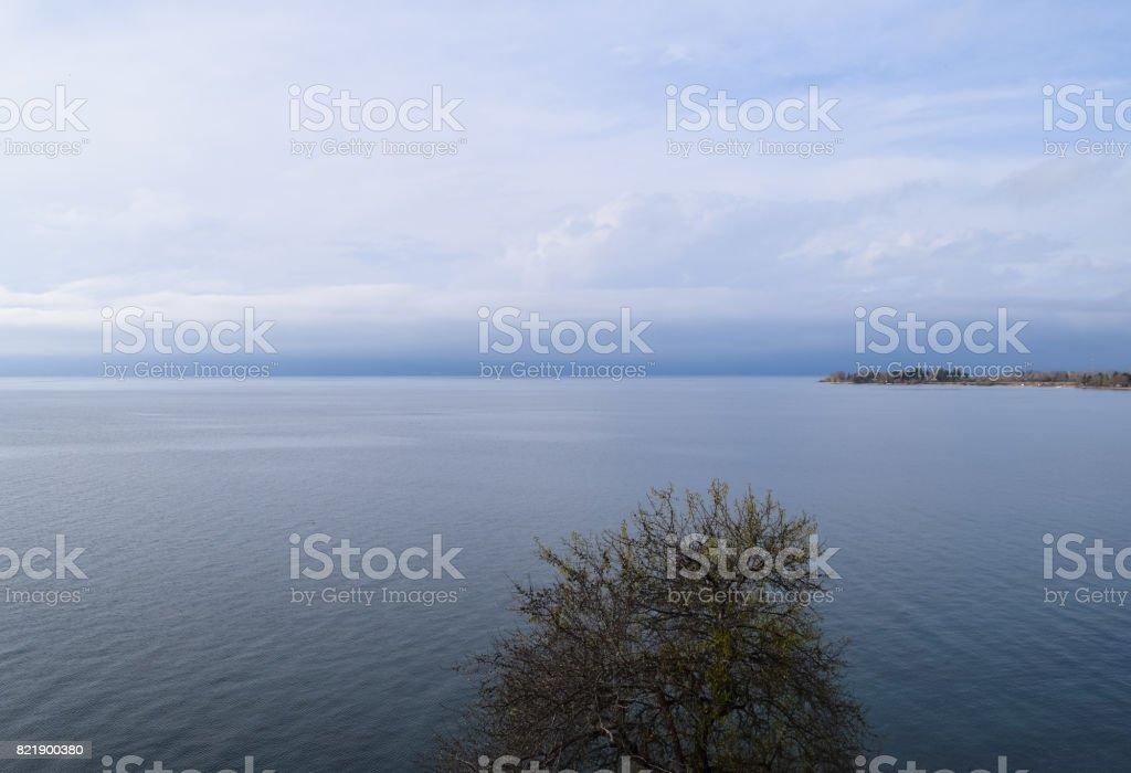 Lake Ohrid - the deepest lake of Balkans. Macedonia stock photo