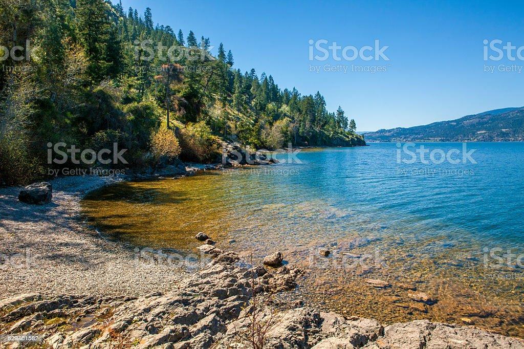 Lake Okanagan, British Columbia stock photo