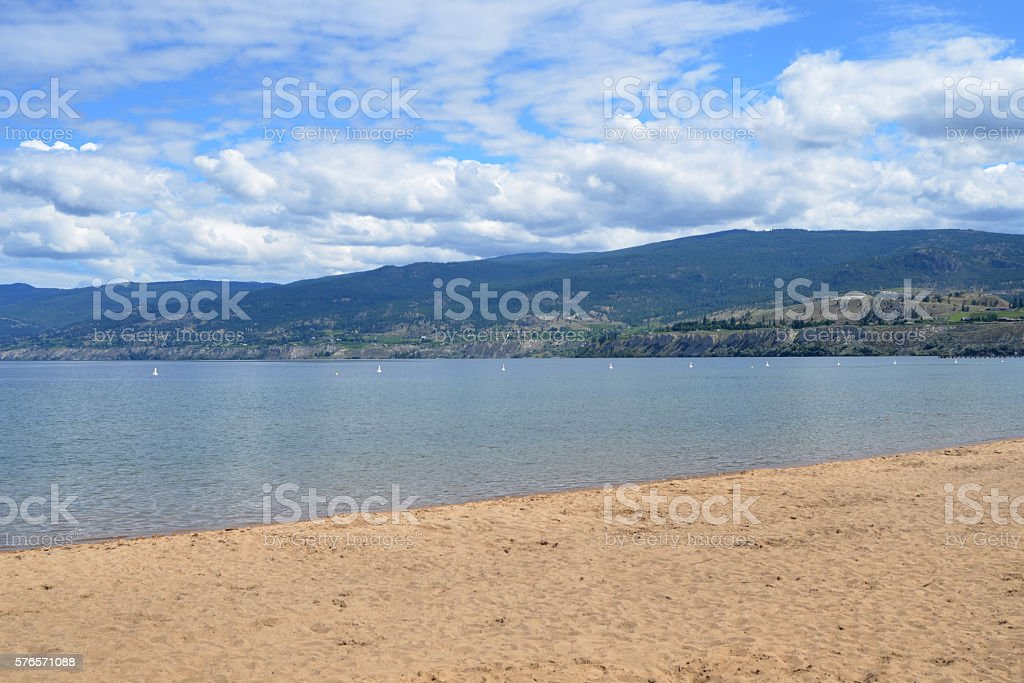 Lake Okanagan stock photo