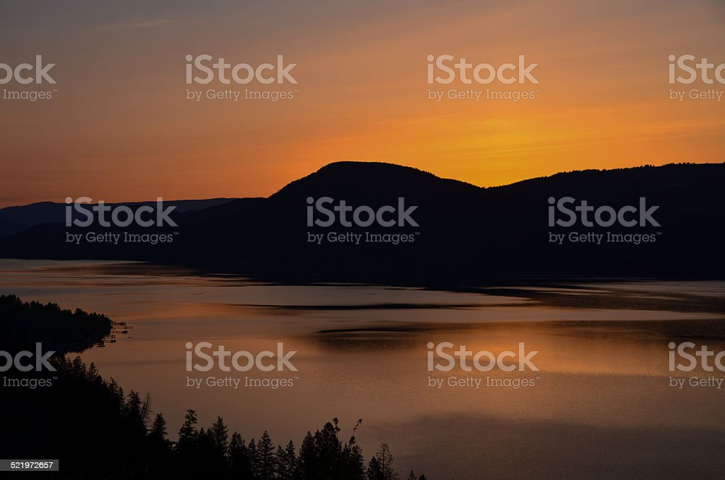 Lake Okanagan sunrise stock photo