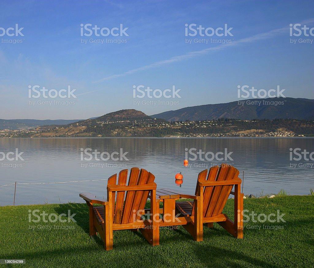 Lake Okanagon stock photo