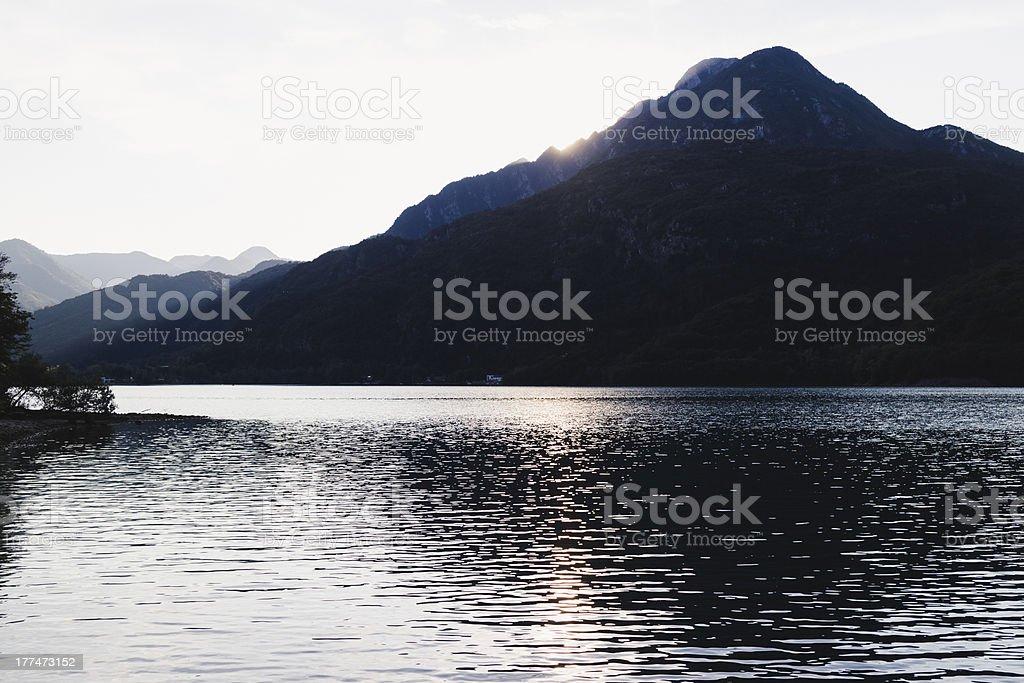 Lake on mountains royalty-free stock photo