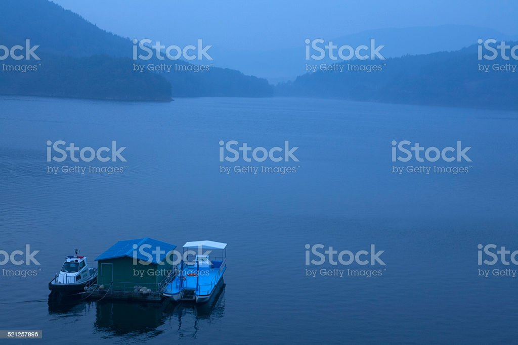 lake on the early morning stock photo