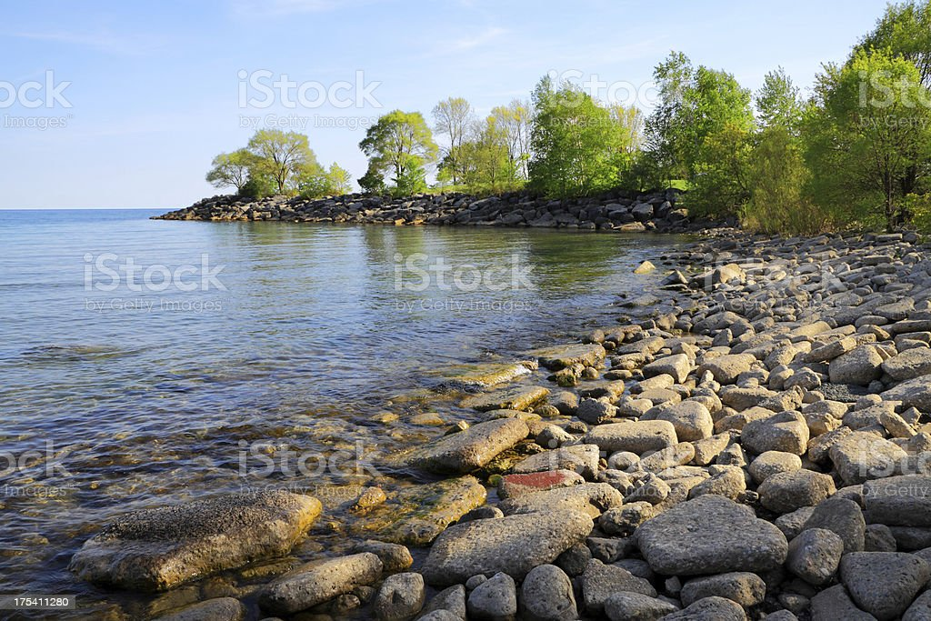 Lake Ontario Beach stock photo
