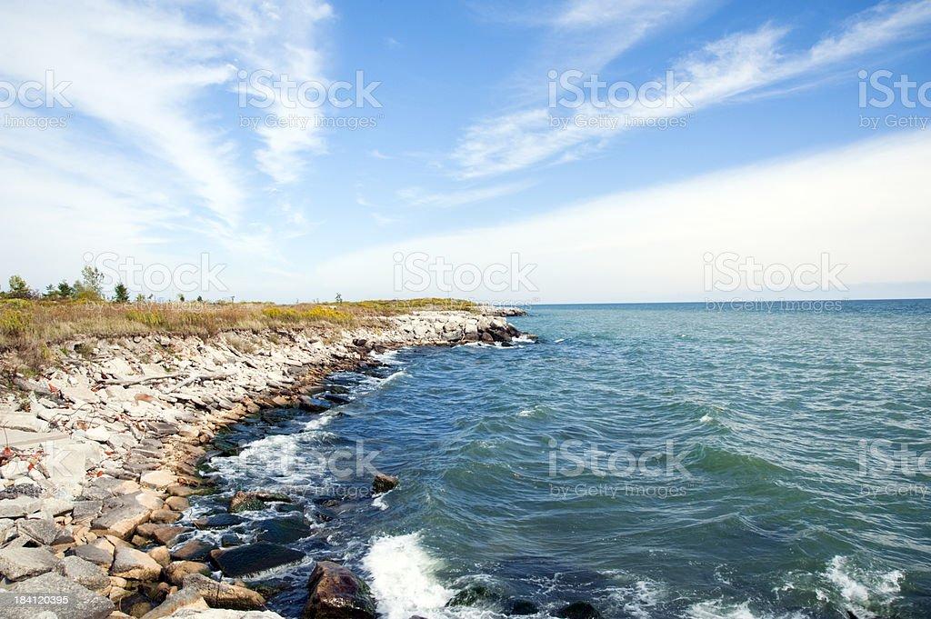costa del lago ontario foto de stock libre de derechos