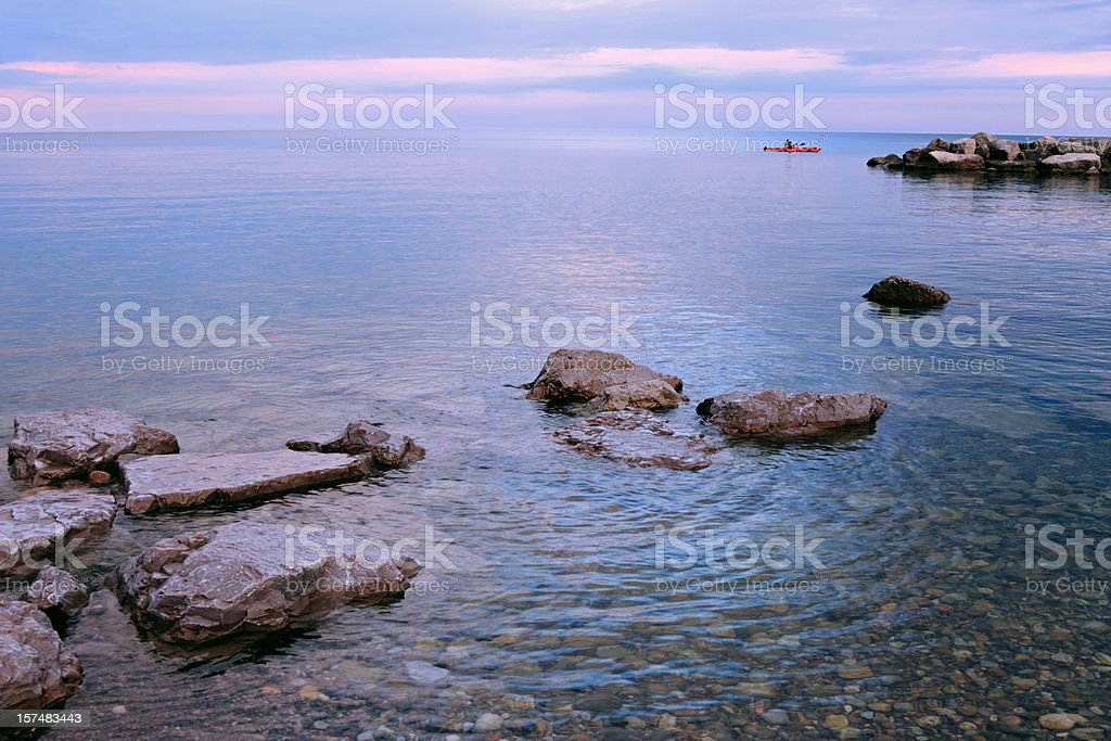 Lake Ontario Kayaking stock photo