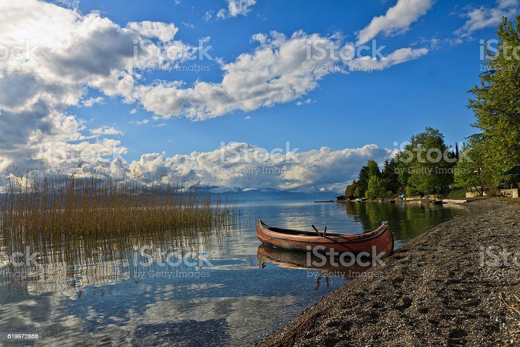 Lake Orchid Mazedonia stock photo