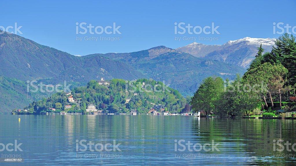 Lake Orta,Piedmont,Italy stock photo