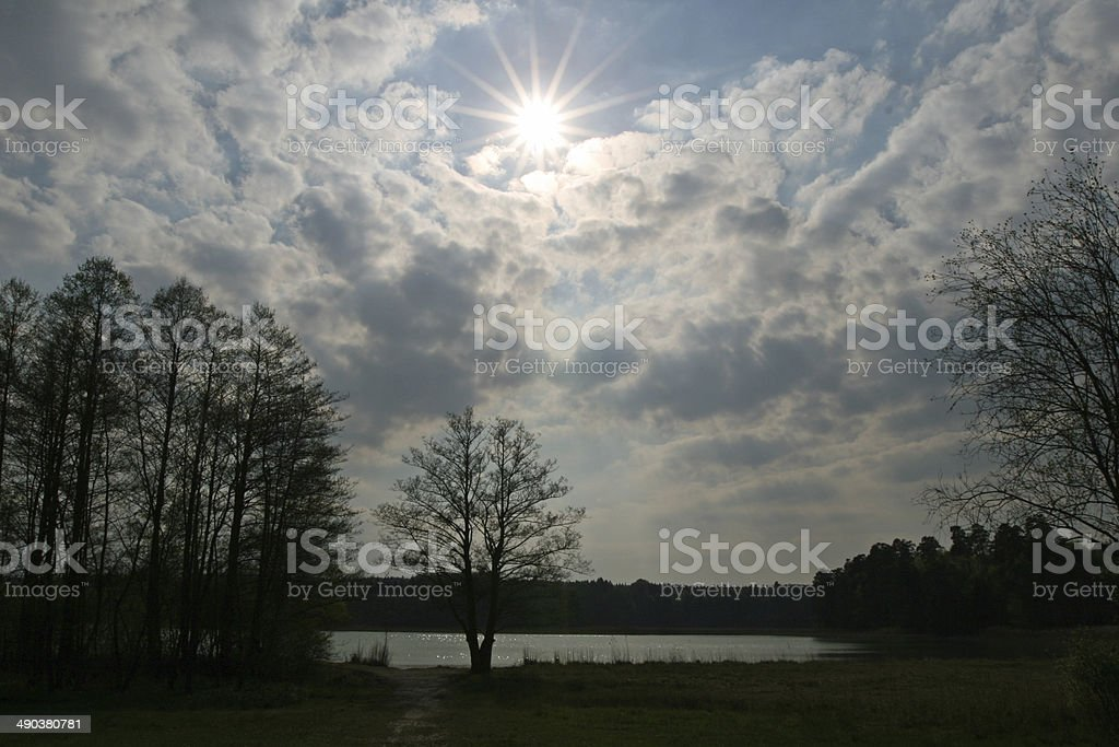 lake Osterseen in Germany Bavaria stock photo
