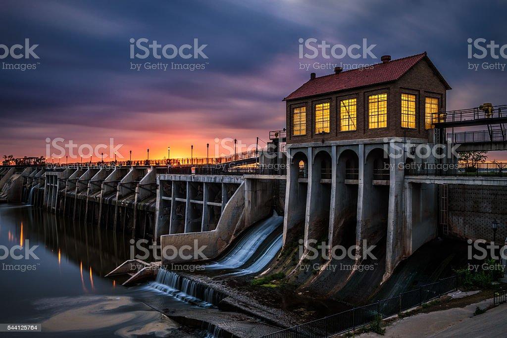 Lake Overholser Dam in Oklahoma City stock photo