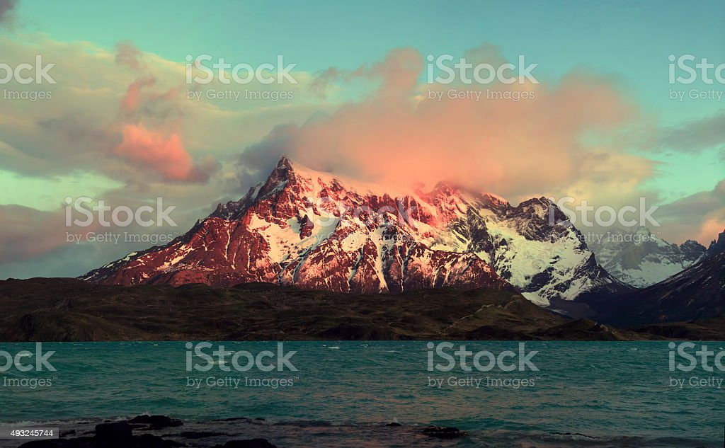 Lake Pahoe - Torres del Paine - Patagonia, Chile stock photo