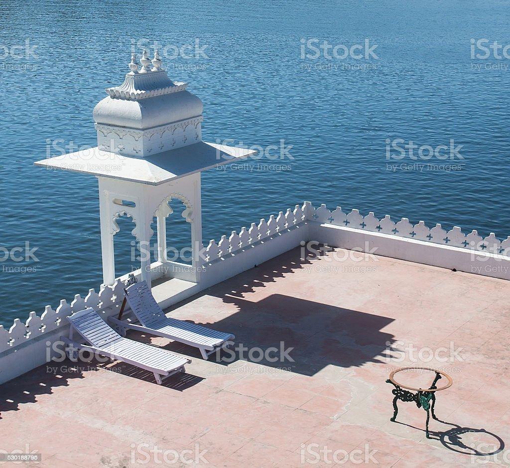 Lake Palace in Udaipur stock photo