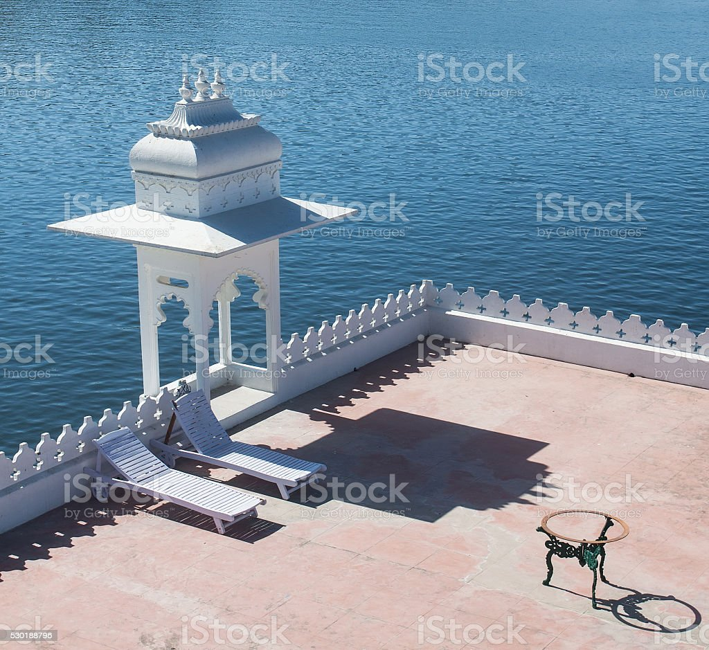 Lake Palace in Udaipur stock photo