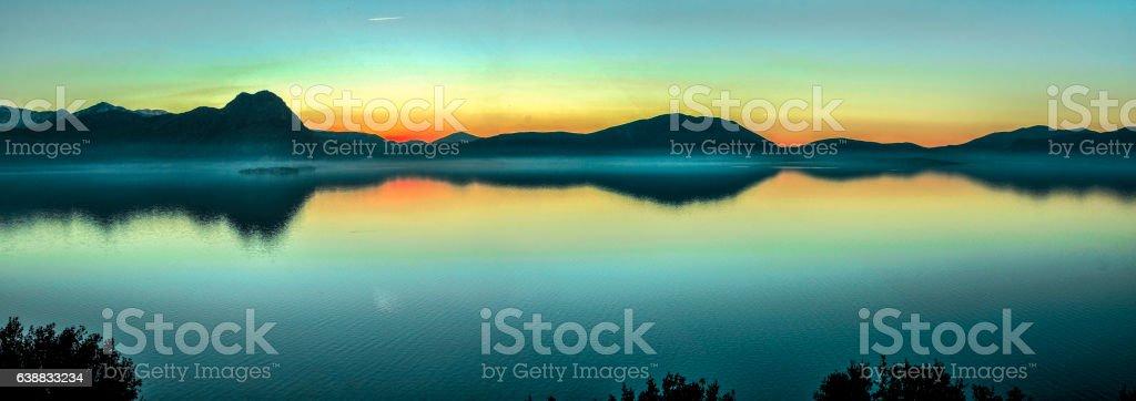 Lake Panorama View stock photo