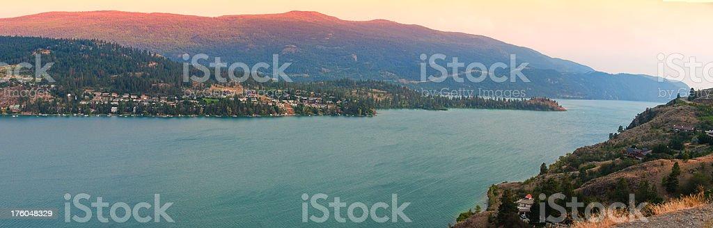 Lake Panoramic XXXL royalty-free stock photo