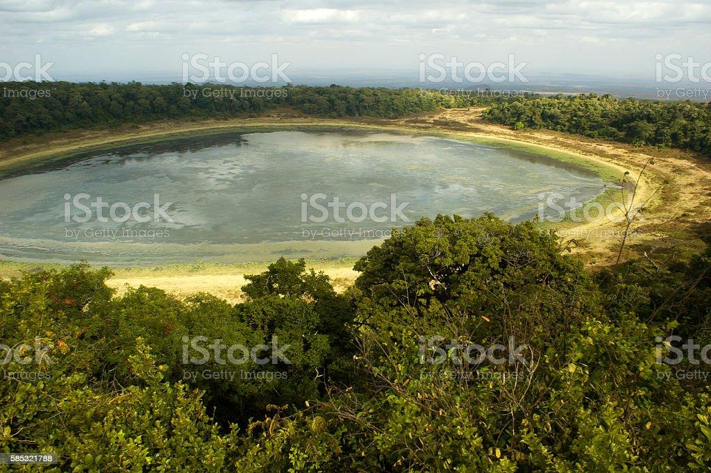 Lake Paradise in Marsabit National Park, Kenya stock photo
