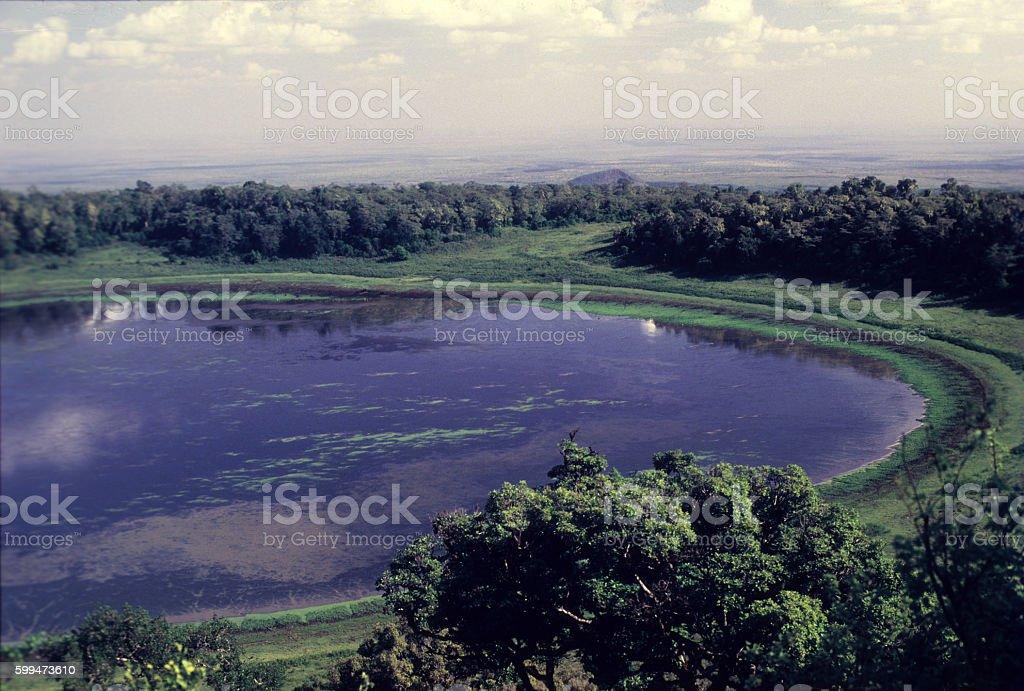 Lake Paradise, Marsabit National Park, northern Kenya stock photo