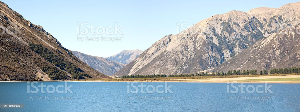 Lake Pearson Arthur's pass National Park New Zealand stock photo