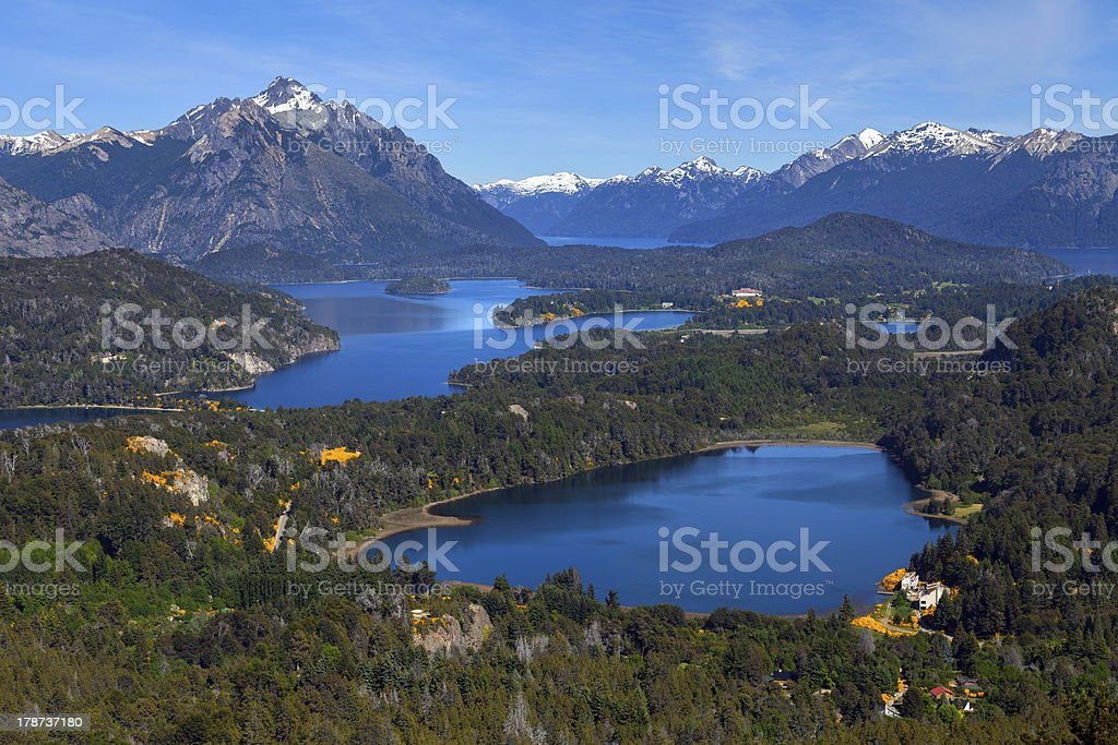 Lake Perito Moreno, Bariloche, Argentina stock photo