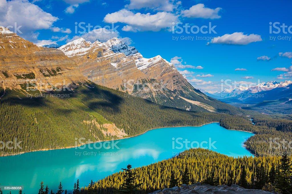 Lake Peyto in Banff National Park stock photo