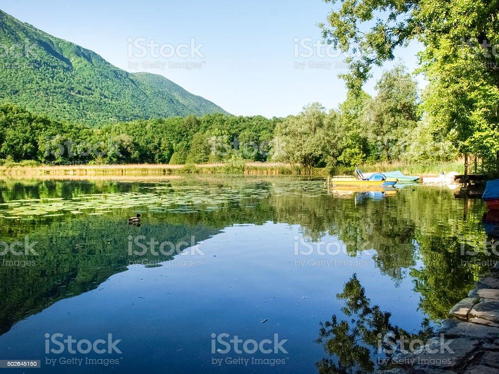 Lake Piano in the Val Menaggio stock photo