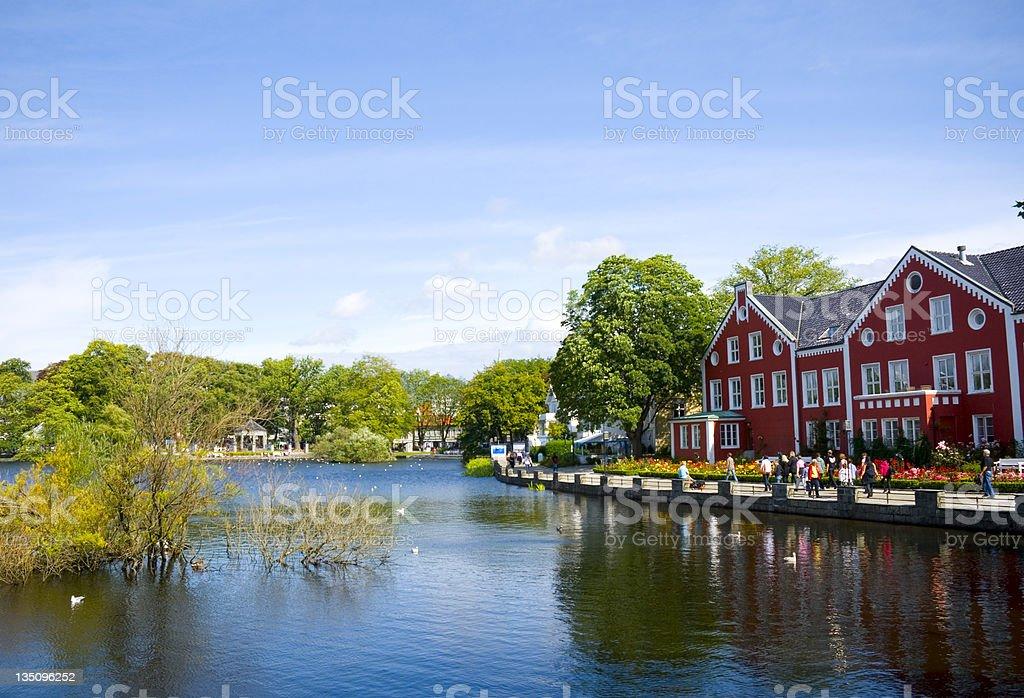 Lake (Breiavatnet) stock photo