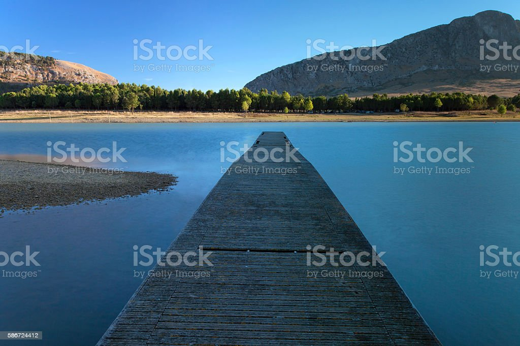 Lake Pier stock photo