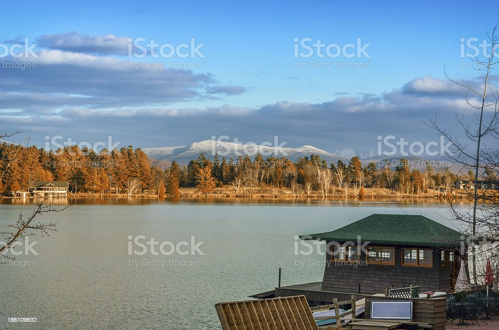 Lake Placid in the Fall stock photo