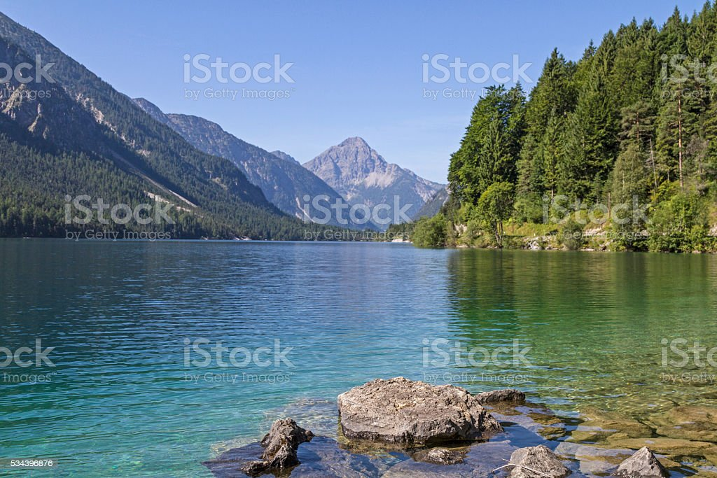 lake Plansee in Tyrol stock photo