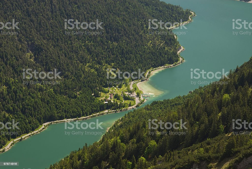 Lake Plansee in Tyrol royalty-free stock photo