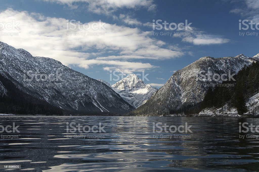 lake plansee in winter #5 royalty-free stock photo