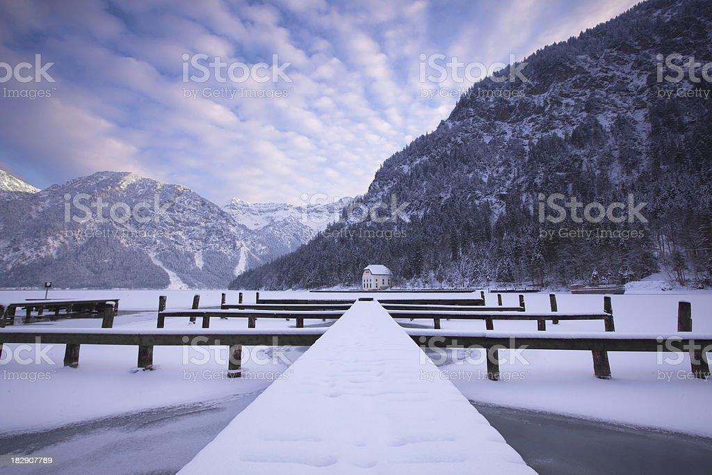 lake plansee in winter- tirol -austria royalty-free stock photo