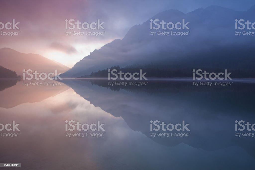 lake plansee, tirol austria royalty-free stock photo
