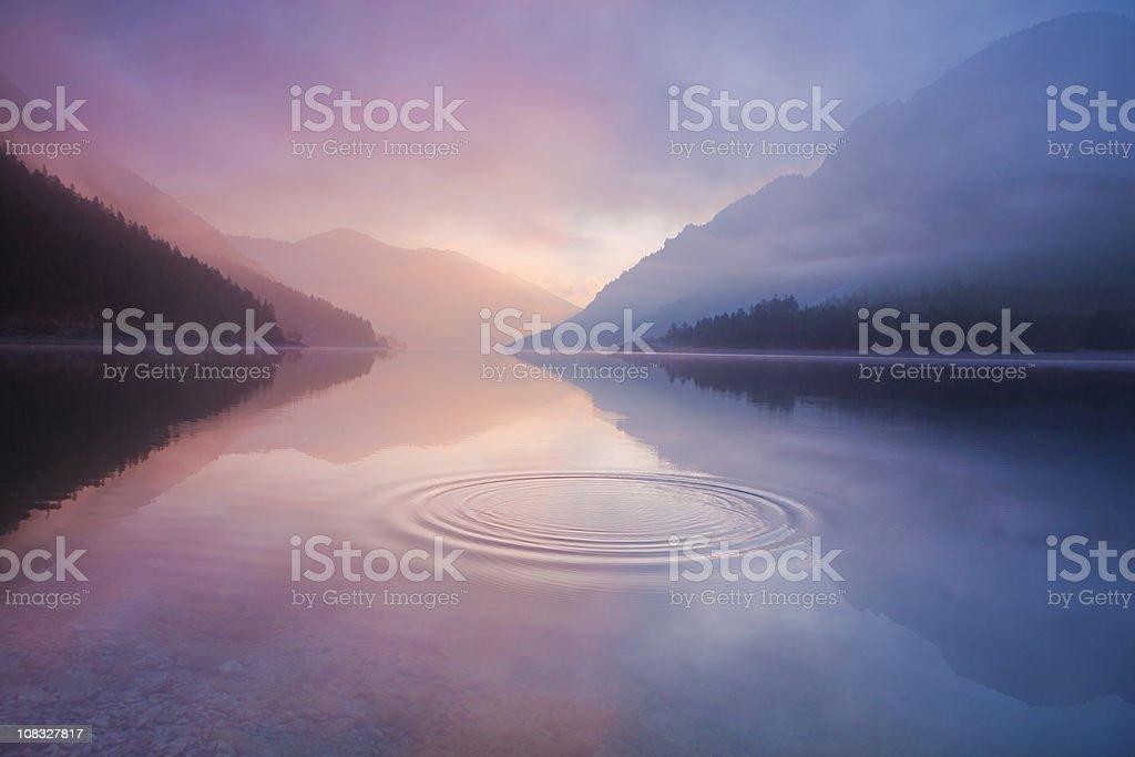lake plansee, tirol austria stock photo