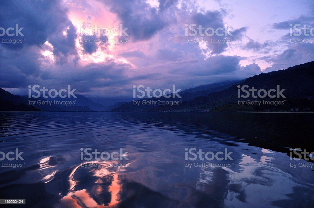 Lake Pokhara stock photo
